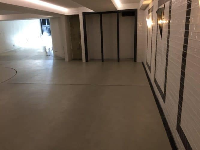 Microcement Garage Floor