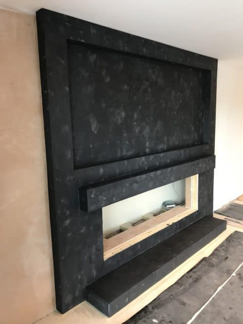 Microcement Fireplace